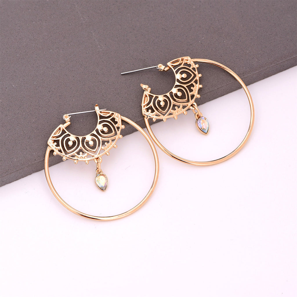 Paisley Boho Hoop Earrings