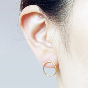 Calixta Geometric Round Earrings