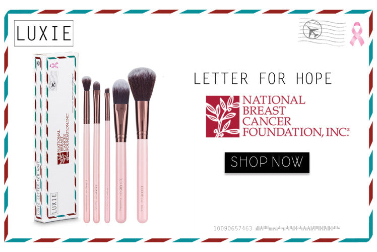#HelpingWomenNow: Luxie X NBCF Letter For Hope Brush Set