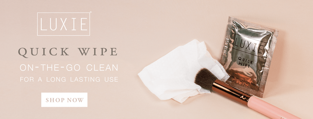 LUXIE Quick Wipe. On-the-go clean for a long lasting use. Shop now