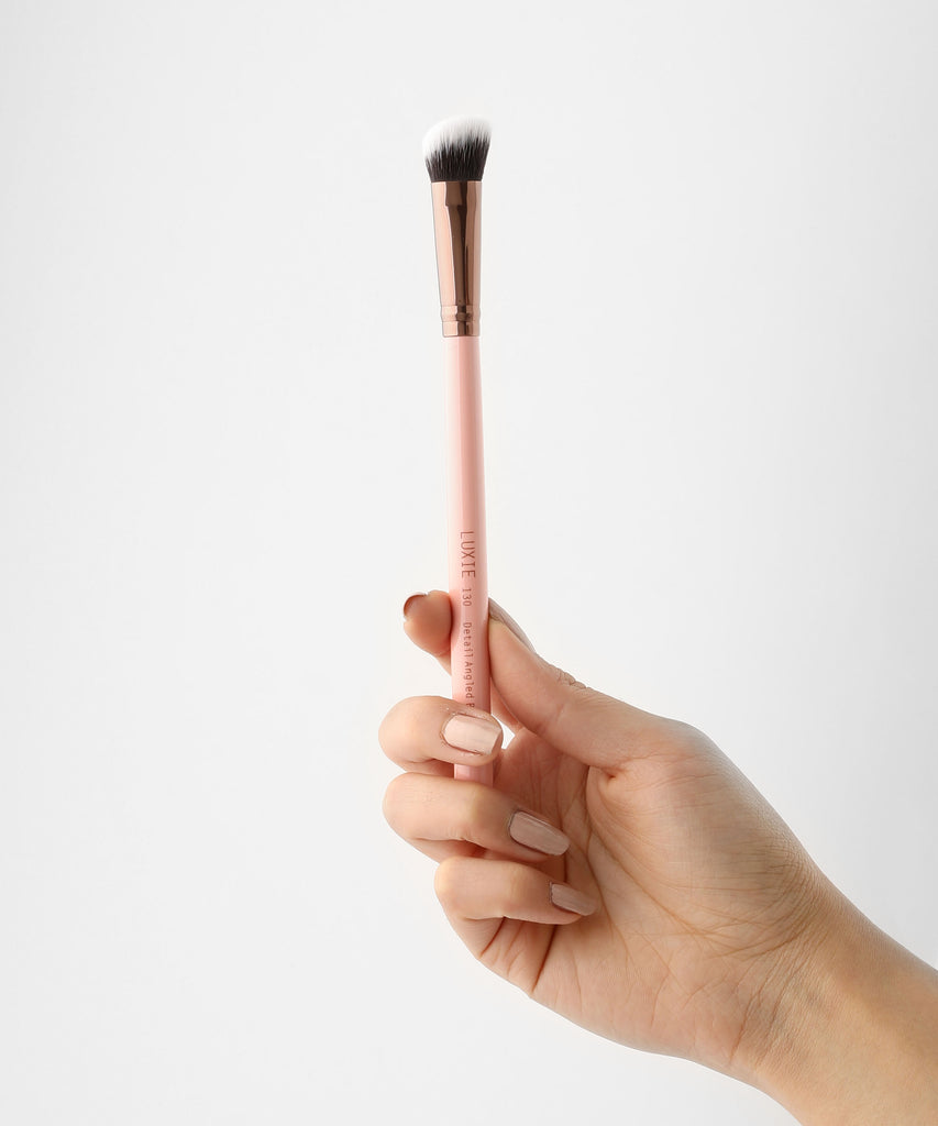 LUXIE 130 Detail Angled Blender Brush - Rose Gold - luxiebeauty