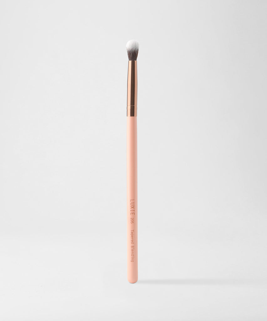 LUXIE 205 Tapered Blending Brush - Rose Gold - LuxieBeauty