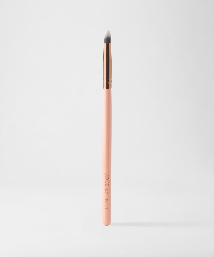 LUXIE 217 Pencil Eye Makeup Brush - Rose Gold - luxiebeauty