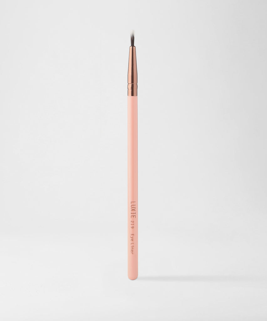 LUXIE 219 Eye Liner Makeup Brush - Rose Gold - luxiebeauty