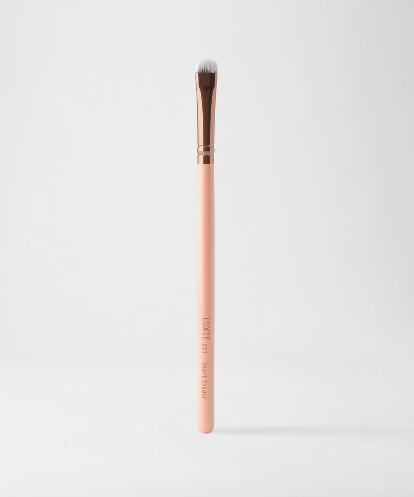 LUXIE 223 Short Shader Makeup Brush - Rose Gold - luxiebeauty