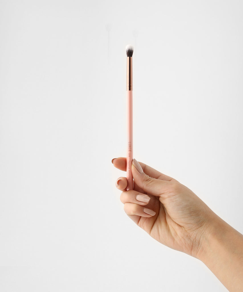 LUXIE 229 Tapered Blending Brush - Rose Gold - luxiebeauty