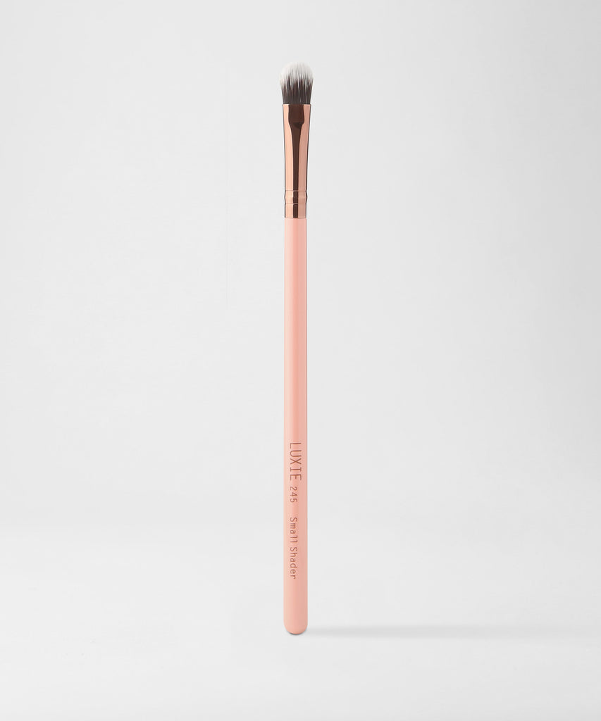 LUXIE 245 Small Shader Makeup Brush - Rose Gold - luxiebeauty