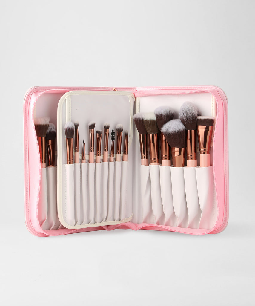 LUXIE 30 Piece Makeup Brush Set - Rose Gold - luxiebeauty