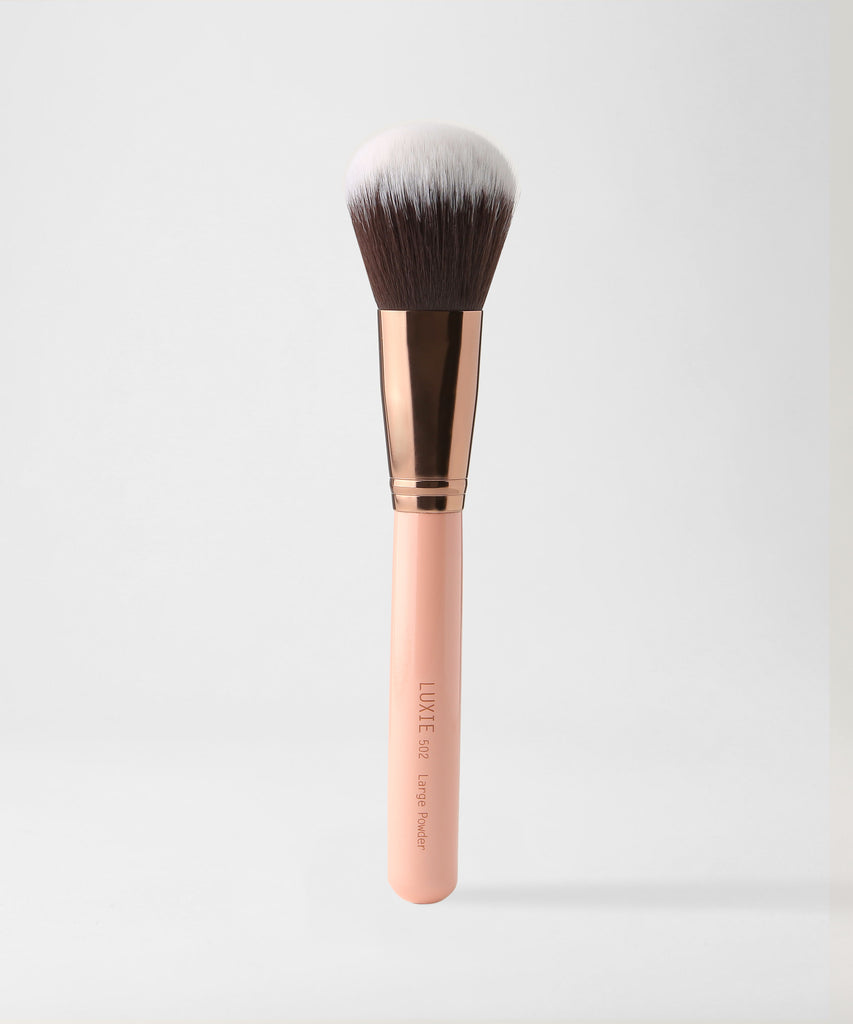LUXIE 502 Large Powder Brush - Rose Gold - LuxieBeauty