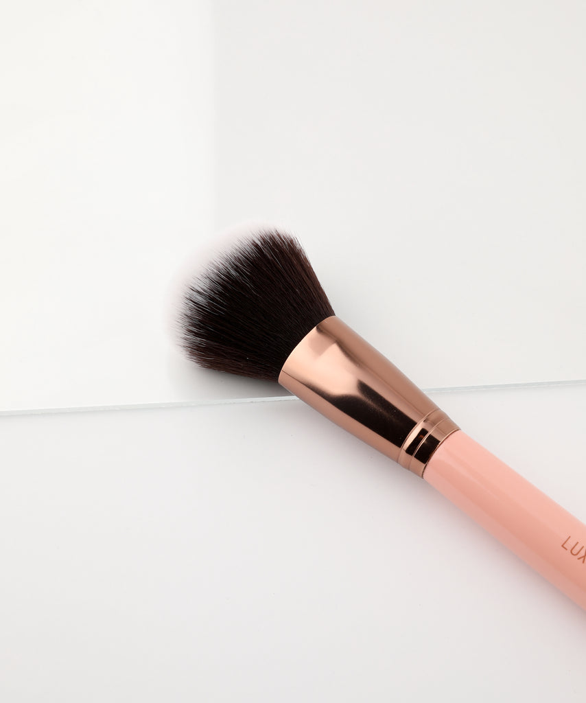 LUXIE 502 Large Powder Makeup Brush - Rose Gold - luxiebeauty