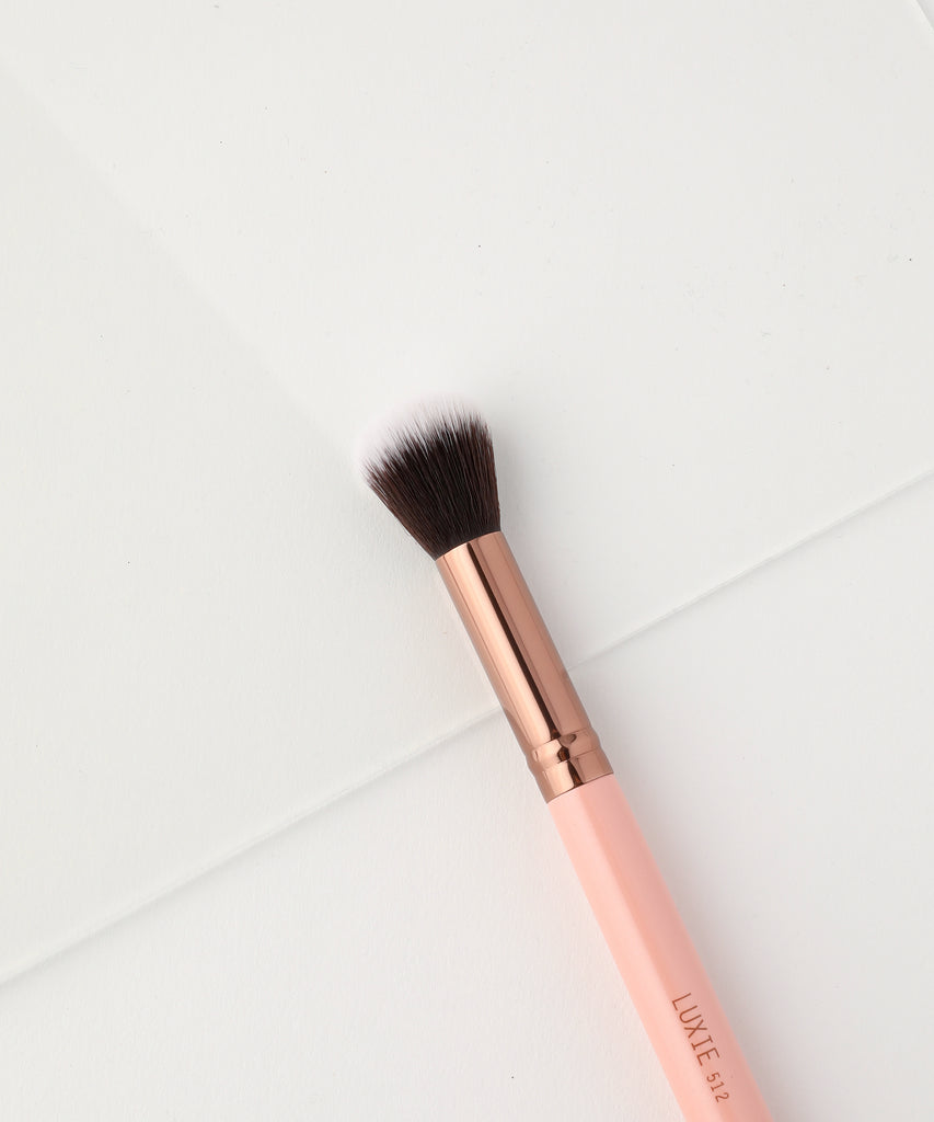 LUXIE 512 Small Contouring Makeup Brush - Rose Gold - luxiebeauty