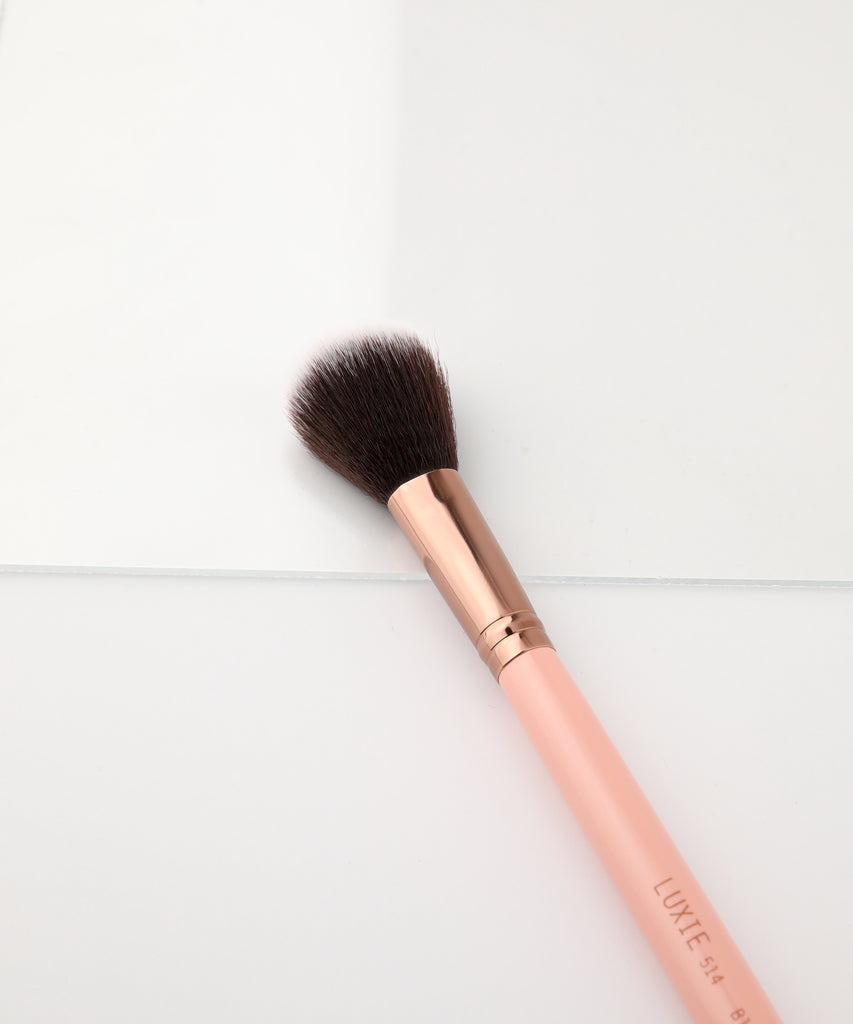 LUXIE 514 Blush Makeup Brush - Rose Gold - luxiebeauty