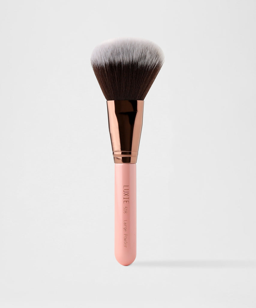 LUXIE 518 Large Powder Makeup Brush - Rose Gold - luxiebeauty