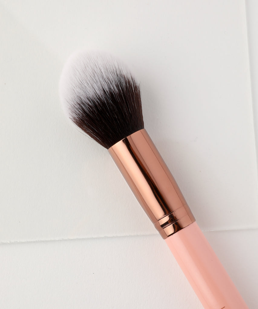 LUXIE 520 Tapered Face Brush - Rose Gold - LuxieBeauty