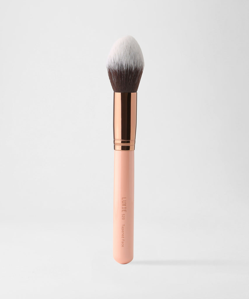 LUXIE 520 Tapered Face Makeup Brush - Rose Gold - luxiebeauty