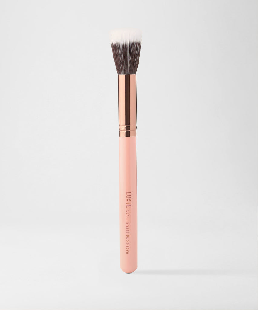 LUXIE 524 Small Duo Fibre Brush - Rose Gold - luxiebeauty