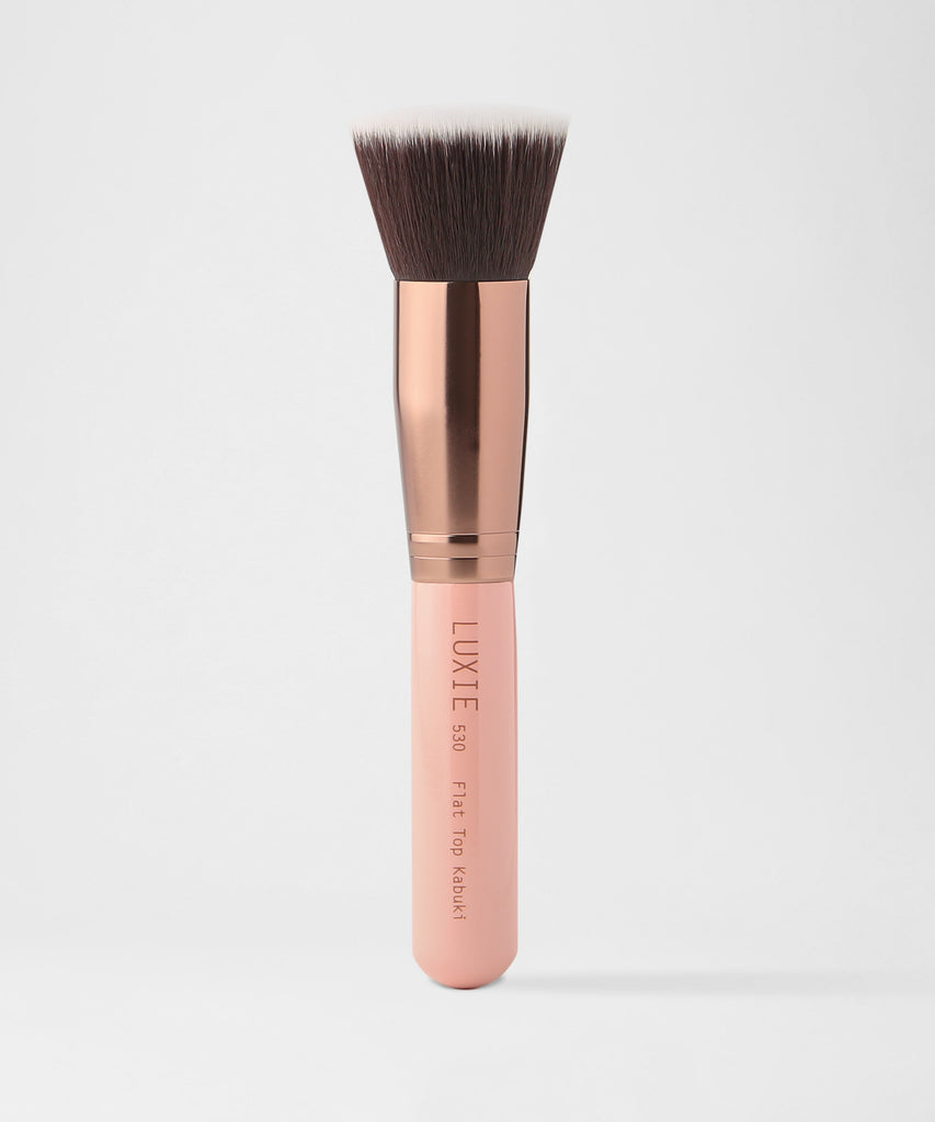 LUXIE 530 Flat Top Kabuki Brush - Rose Gold - LuxieBeauty