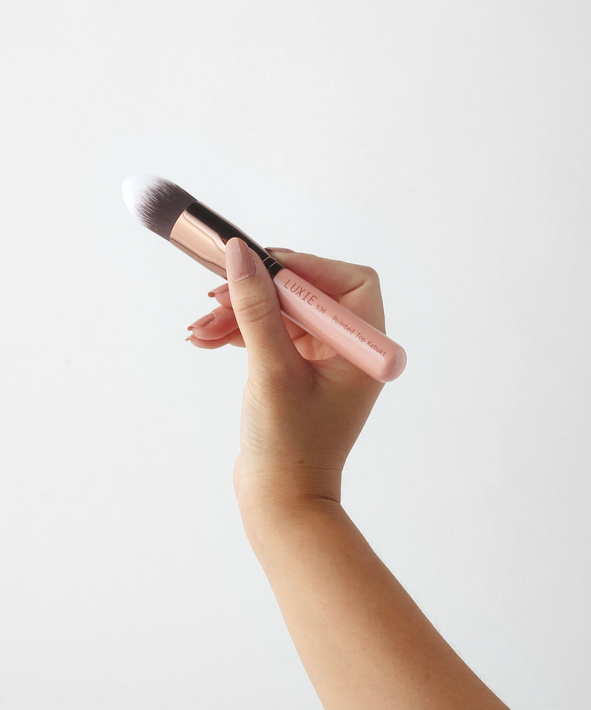 LUXIE 536 Pointed Top Kabuki Brush - Rose Gold - luxiebeauty