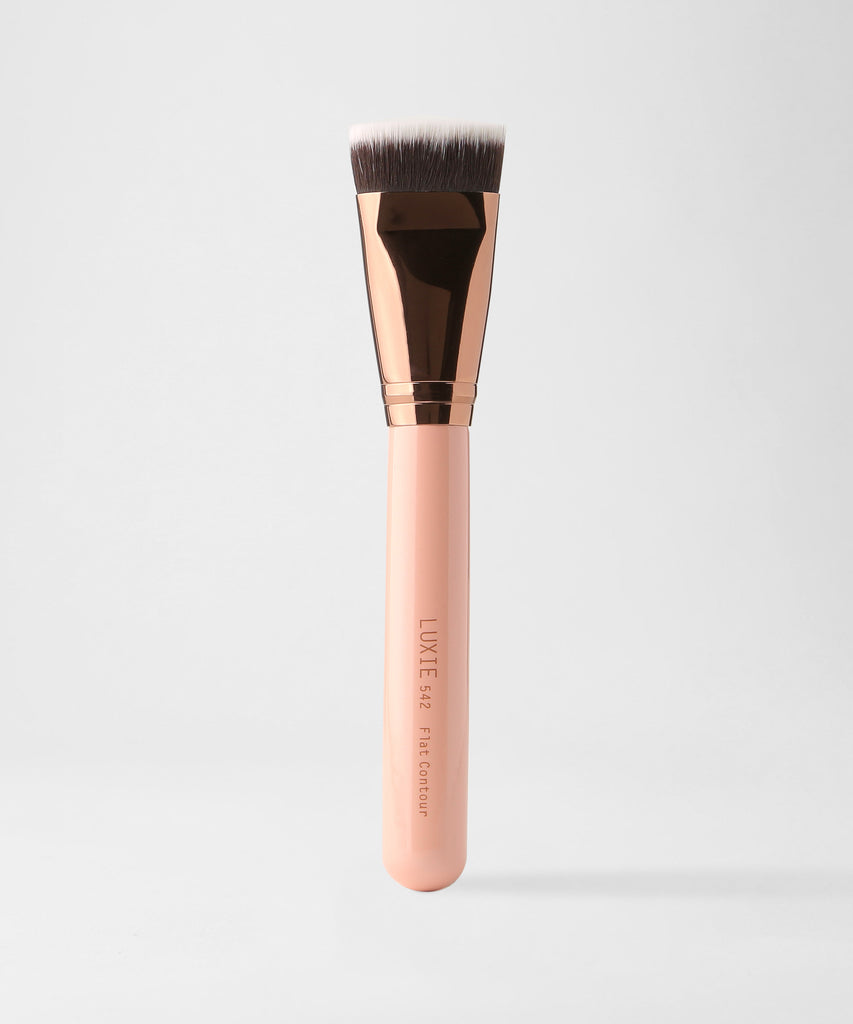 LUXIE 542 Flat Contour Brush - Rose Gold - luxiebeauty