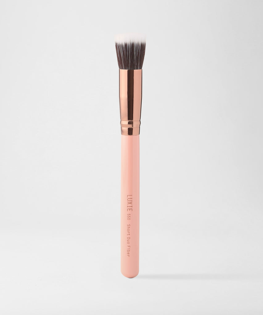 LUXIE 550 Short Duo Fibre Brush - Rose Gold - luxiebeauty