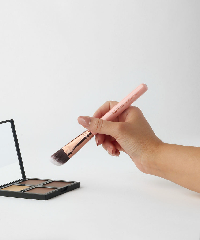 LUXIE 588 Angled Contour Brush - Rose Gold - LuxieBeauty