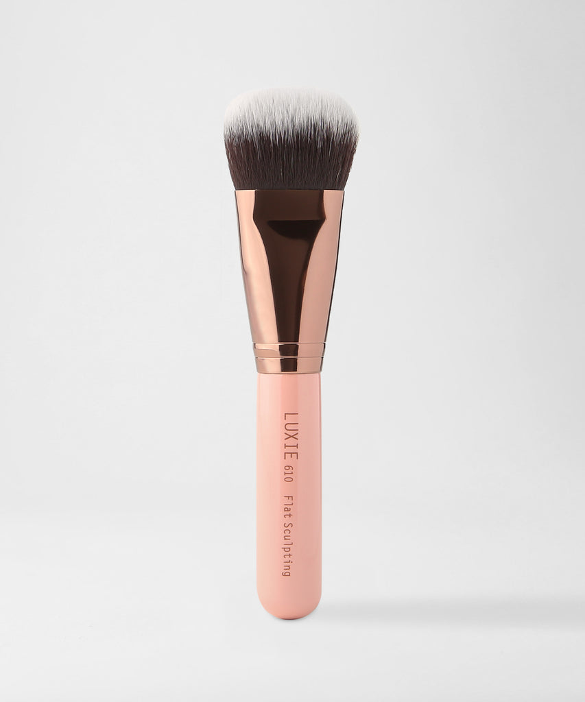 LUXIE 610 Flat Sculpting Brush - Rose Gold - luxiebeauty