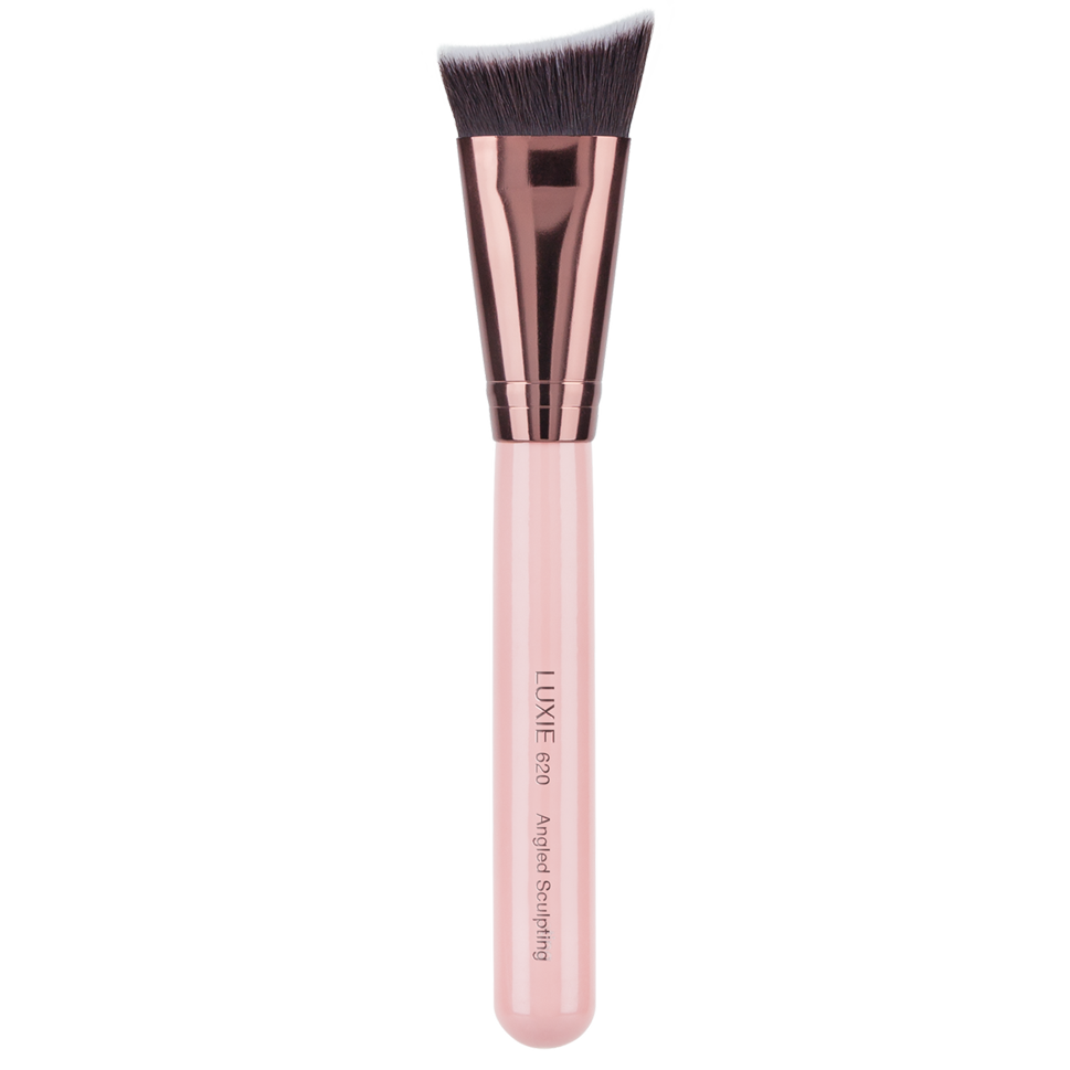 LUXIE 620 Angled Sculpting Brush - Rose Gold - LuxieBeauty