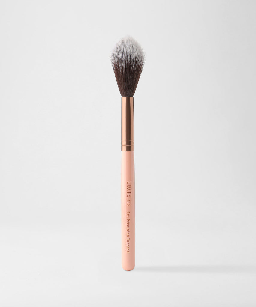 LUXIE 640 Pro Precision Tapered Brush - Rose Gold - LuxieBeauty