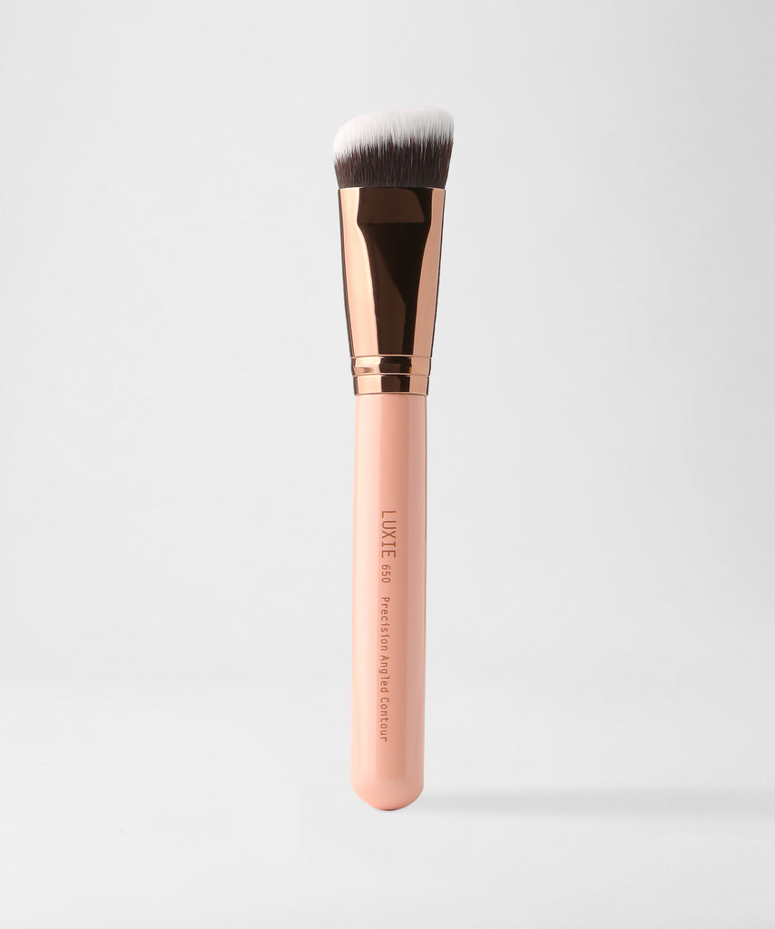 LUXIE 650 Precision Angled Contour Brush - Rose Gold - LuxieBeauty