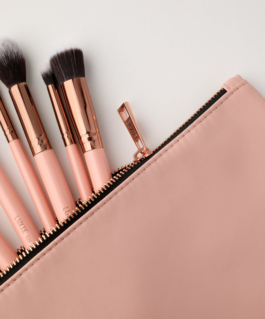 LUXIE Travel Makeup Bag-Rose Gold - luxiebeauty