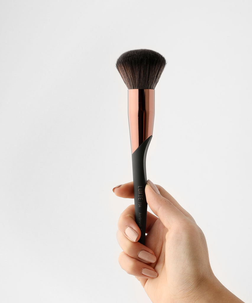 LUXIE 734 Airbrush Powder Makeup Brush - ProTools - luxiebeauty | New Price $10