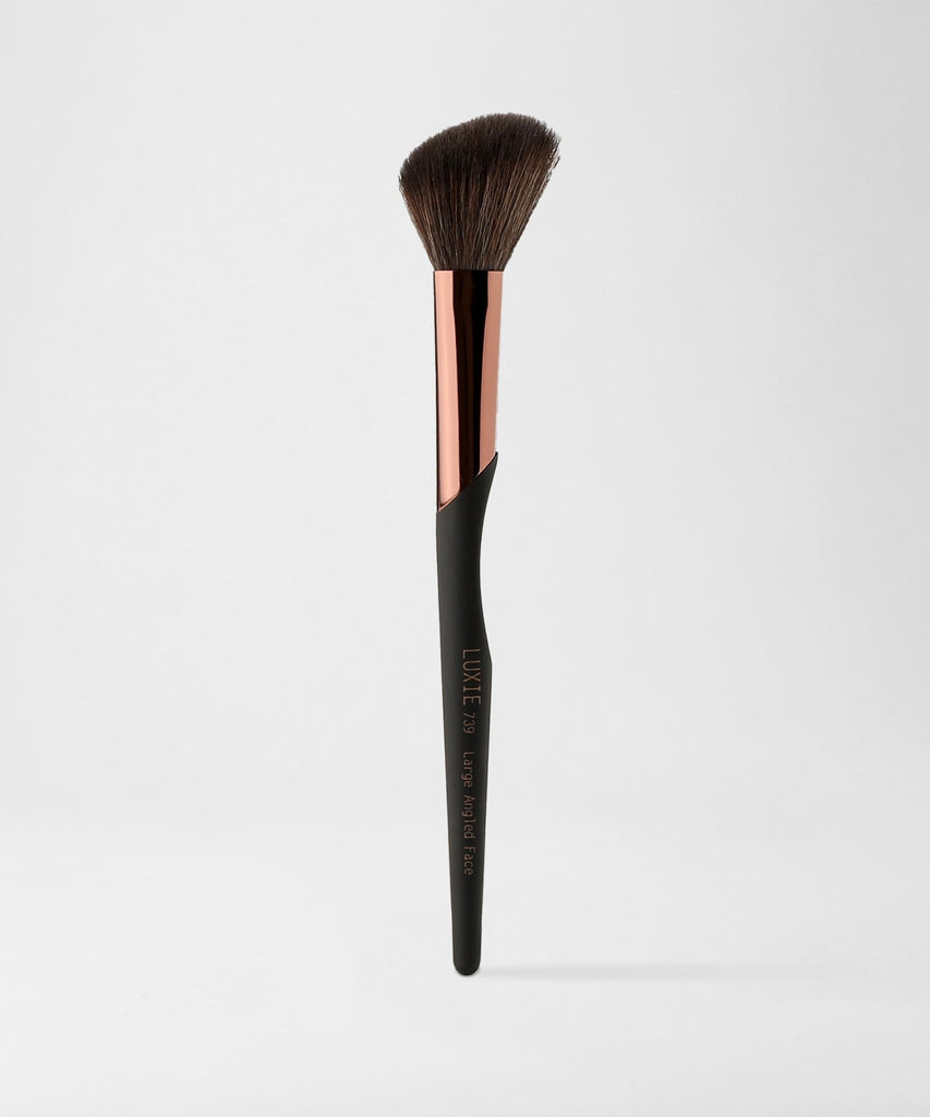 LUXIE 739 Large Angled Face Makeup Brush - ProTools - luxiebeauty | New Price $10