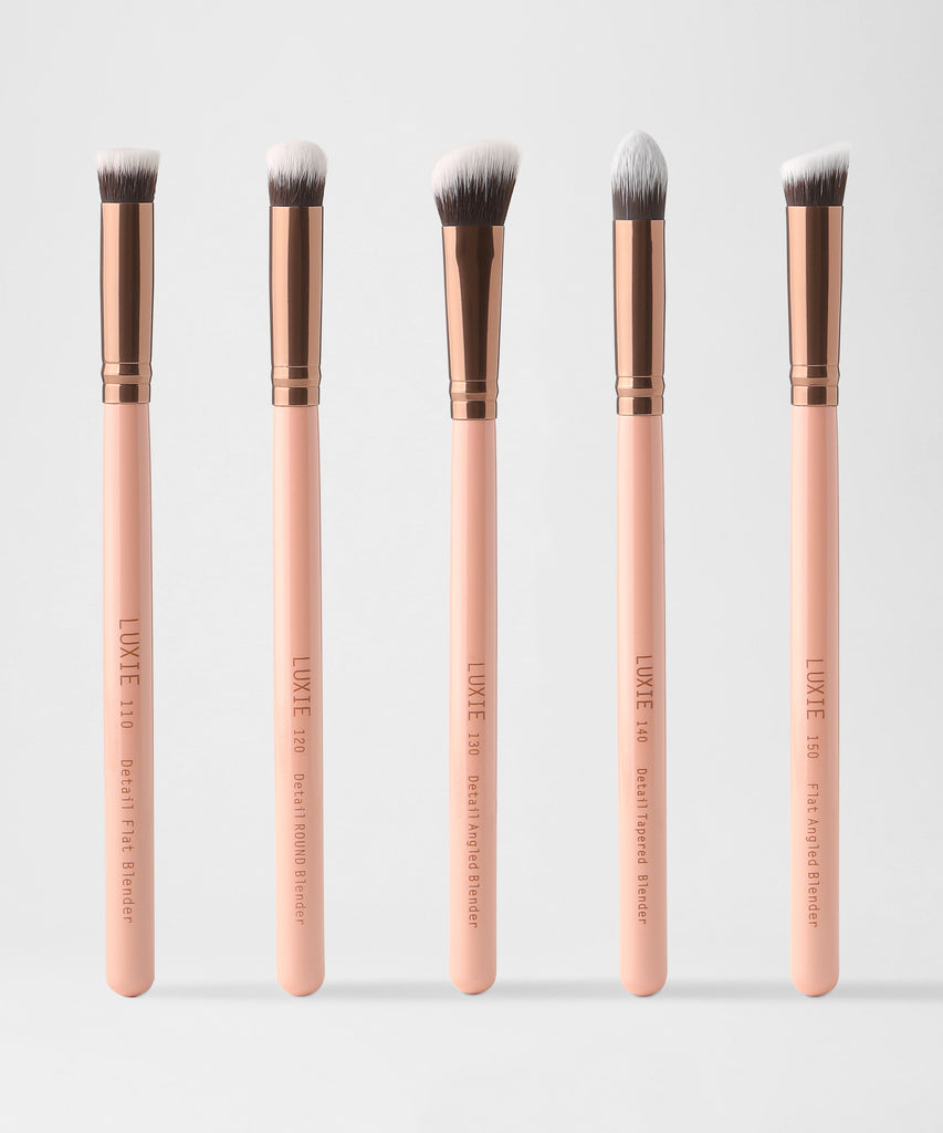 LUXIE Detail Face Brush Set-Rose Gold - luxiebeauty