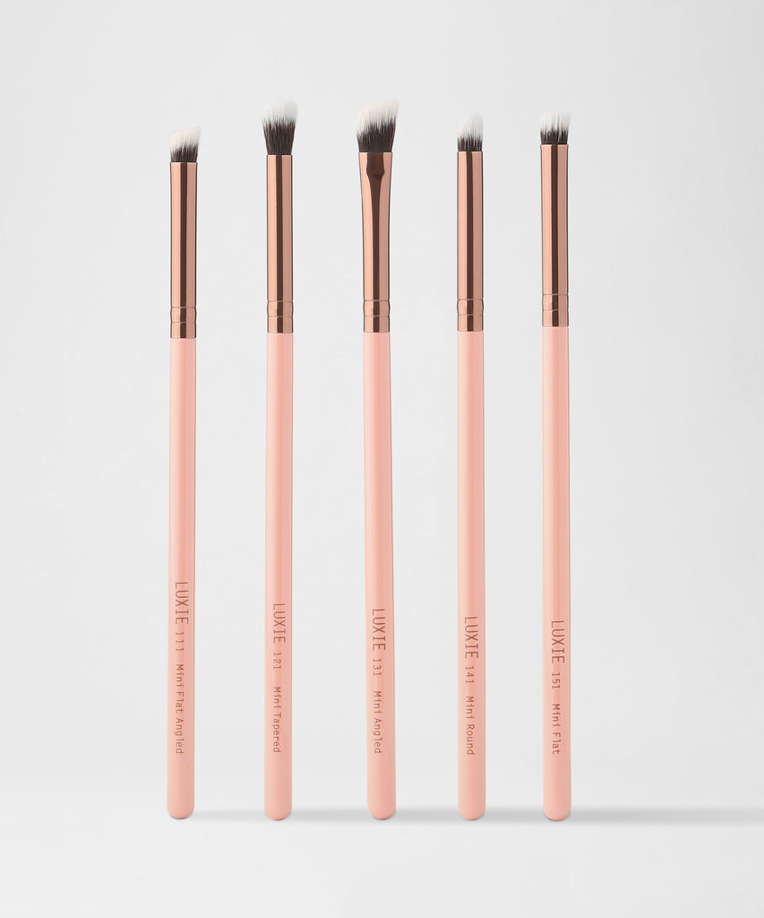 LUXIE  Mini Detail Brush Set-Rose Gold - luxiebeauty
