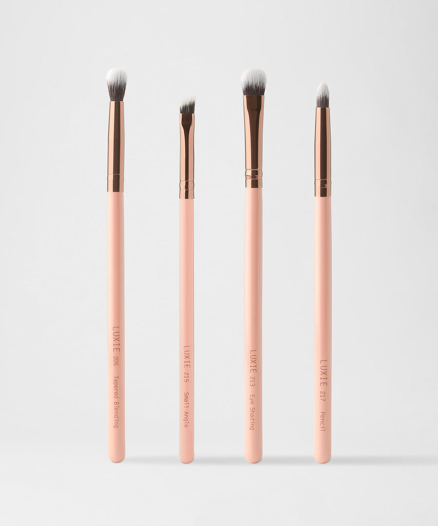 LUXIE Smokey Eye Brush Set-Rose Gold - luxiebeauty