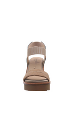 NAKED FEET - BASALT in LIGHT TAUPE Heeled Sandals