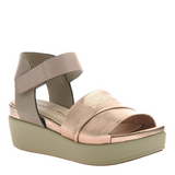 NAKED FEET - KODA in COPPER Wedge Sandals