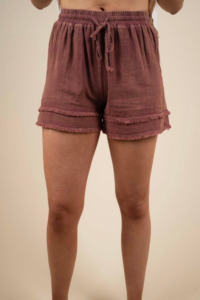Simple Style Shorts (Red Bean)