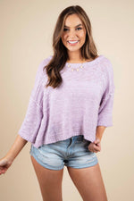 Change My Heart Sweater (Lavender)