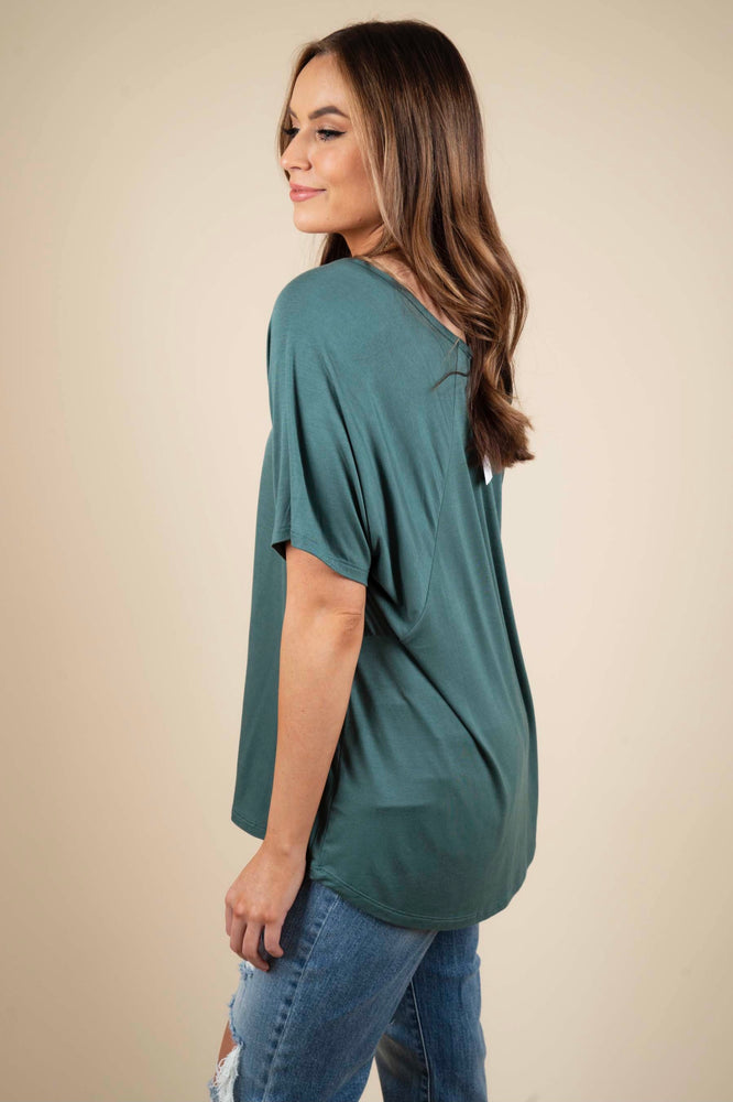 Never Looking Back Tee (Teal)