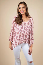 Chase The Moment Sweater (Blush/Mocha Rose)