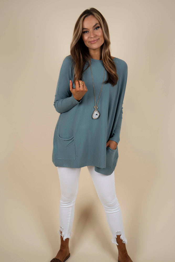Totally Smitten Sweater (Pale Olive)