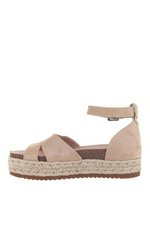 MADELINE GIRL - DRAMA QUEEN in CHAMPAGNE Wedge Sandals