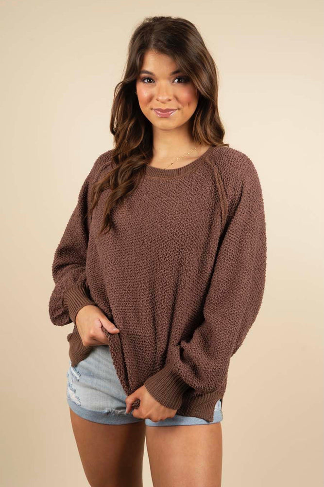 Gracious Smile Pullover (Chocolate)