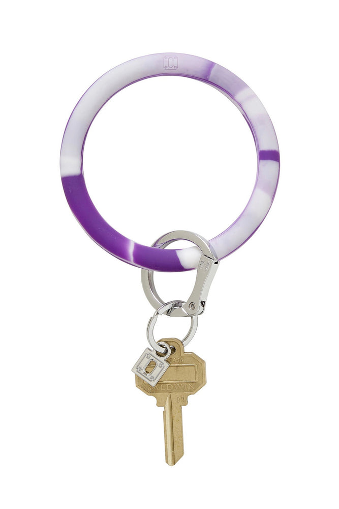 Big O Silicone Key Ring (Deep Purple Marble)