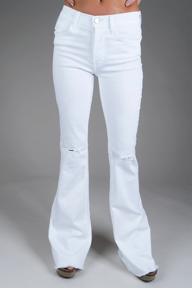 Think Of You Flares (White)