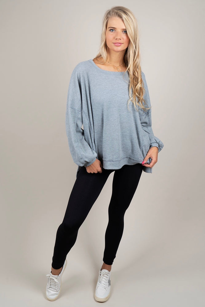 Must Be Yours Top (Heather Grey)