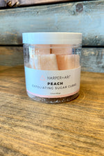 Harper and Ari Exfoliating Sugar Cube Jars (Peach)