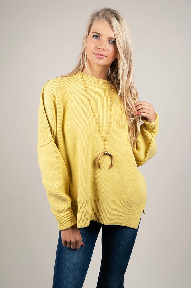 Somewhere With You Sweater (Citrus Lime)