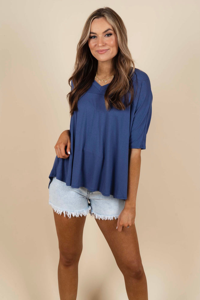 Dare To Dream Top (Dark Denim)